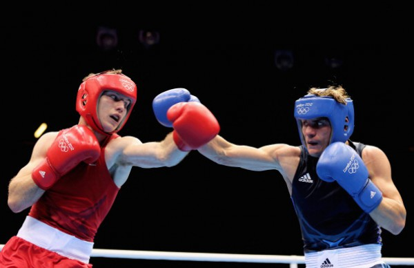 Украинец Денис Беринчик во время Олимпиады